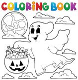 Tema 3 för spöke för färgläggningbok vektor illustrationer