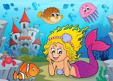Tema felice 2 della sirena illustrazione vettoriale