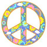 Tema feliz del símbolo de paz ilustración del vector