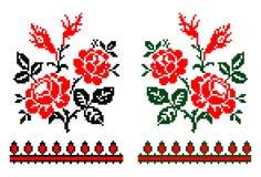 Tema floral tradicional rumano stock de ilustración