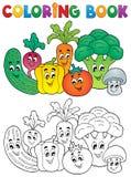 Tema 2 för grönsak för färgläggningbok Royaltyfri Foto