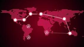 Tema global de las conexiones en rojo libre illustration