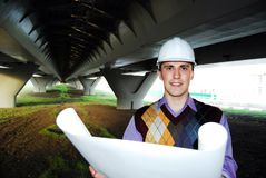 Tema industrial: arquitecto. Imagen de archivo