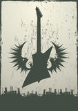 Tema industrial de la guitarra libre illustration