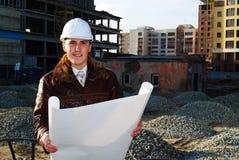 Tema industriale: architetto. Immagini Stock Libere da Diritti