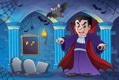 Tema interior assombrado 3 do castelo Imagens de Stock Royalty Free