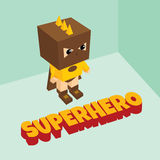 Tema isométrico del super héroe asombroso Imágenes de archivo libres de regalías