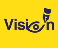 Tema Logo Concept di visione Illustrazione di Stock