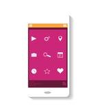 Tema móvil del rosa del icono imagen de archivo libre de regalías