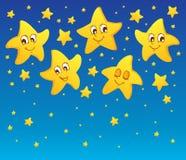 Tema med stjärnor   Arkivbild