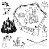 Tema medieval Imagen de archivo libre de regalías