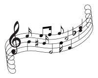 Tema musical del personal Imagenes de archivo