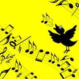 Tema musical. Niño. Imagen de archivo