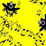 Tema musicale. Bambino. Immagini Stock
