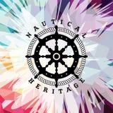 Tema náutico de la marina de guerra colorida abstracta del ancla Imágenes de archivo libres de regalías