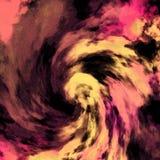Tema ondulato astratto su fondo scuro Materiale illustrativo pastello a spirale illustrazione di stock