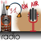 Tema radiofonico illustrazione di stock