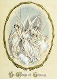 Tema retro do Natal angels Foto de Stock Royalty Free