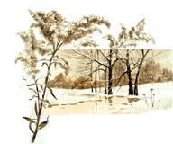Tema retro do Natal A natureza do inverno no Natal Fotografia de Stock Royalty Free