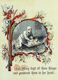 Tema retro do Natal O nascimento de Cristo Fotografia de Stock Royalty Free