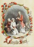 Tema retro do Natal Os magi ilustração royalty free