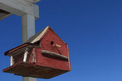 Tema rojo, blanco y azul del Birdhouse americana - Fotos de archivo libres de regalías