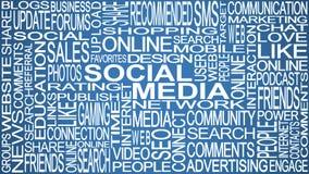 Tema sociale di media Concetto sociale di parole di media Fotografia Stock