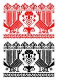 Tema tradicional romeno ilustração royalty free