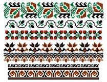 Tema tradicional rumano stock de ilustración