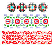 Tema tradicional rumano de la alfombra stock de ilustración