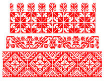 Tema tradicional rumano de la alfombra ilustración del vector