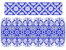 Tema tradicional rumano de la alfombra Imagen de archivo