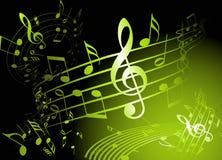 Tema verde da música Imagens de Stock