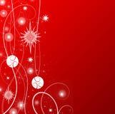 tema vermelho do Natal Imagem de Stock