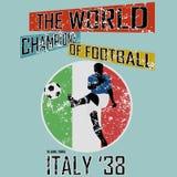 Tema vol för fotboll för Grungestilvärld 3 Royaltyfria Foton