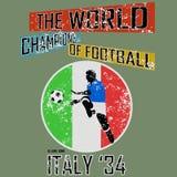 Tema vol för fotboll för Grungestilvärld 2 vektor Arkivfoton