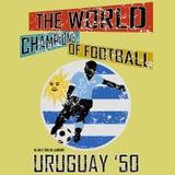 Tema vol för fotboll för Grungestilvärld 4 vektor Royaltyfria Bilder