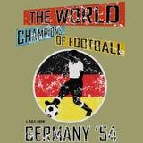 Tema vol för fotboll för Grungestilvärld 5 vektor Arkivbild