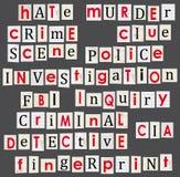 Temaillustration för brotts- och rättsmedicinsk vetenskap. royaltyfri illustrationer
