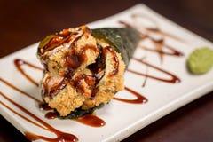 Temaki caliente de la comida japonesa Imagen de archivo libre de regalías