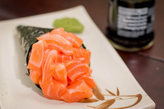 Temaki japonés de la comida Imágenes de archivo libres de regalías