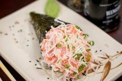 Temaki japonés de la comida Fotos de archivo libres de regalías