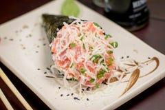 Temaki japonés de la comida Foto de archivo