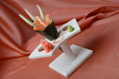 Temaki with salmon and avocado Royalty Free Stock Photos