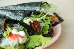 Temaki sushi stock images