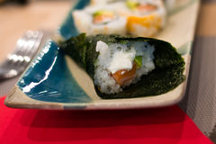 Temaki sushi on a plate Royalty Free Stock Photography