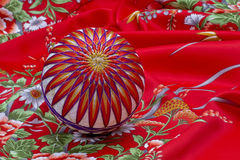 Temari Ball on Kimono Royalty Free Stock Photos