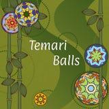Temari Balls Background Royalty Free Stock Images