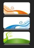 Temas coloridos de la tarjeta de visita ilustración del vector