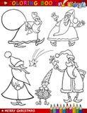 Temas de la Navidad de la historieta para el colorante Fotos de archivo libres de regalías
